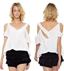 Flowy Cut Out Top