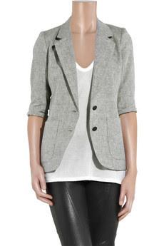 Grey Short Sleeve Blazer