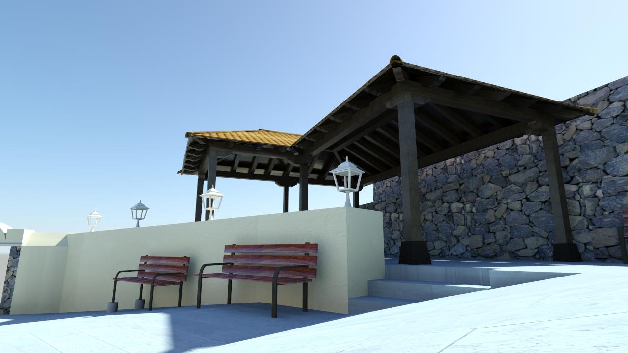 Glginfograf cubierta para terraza en centro de mayores - Cubierta para terraza ...