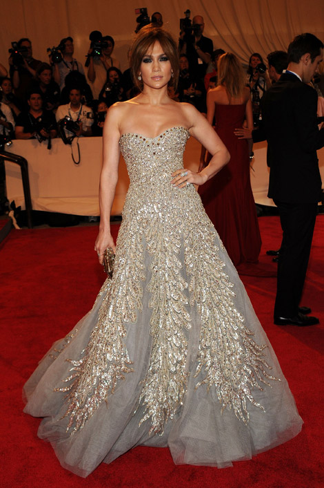 Spotlight on you zuhair murad dresses j lo at met gala 2010 for Jlo wedding dress
