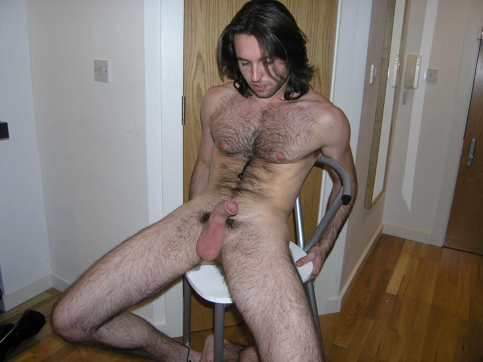 Nude hairy white men