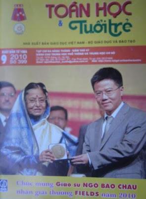 Tap chi Toan hoc va Tuoi tre thang 9 nam 2010 so 399