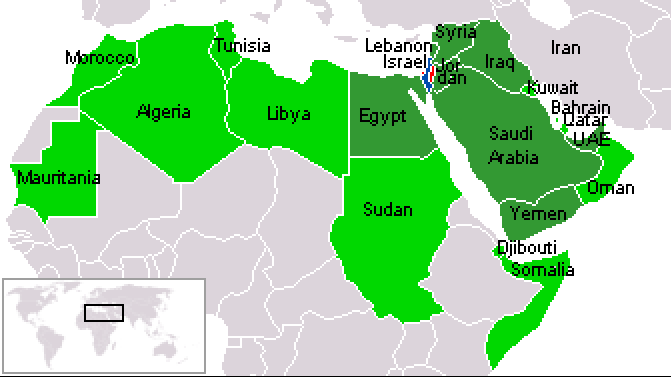 Of the 22 Arab Countries, only Egypt and Jordan recognise Israel.