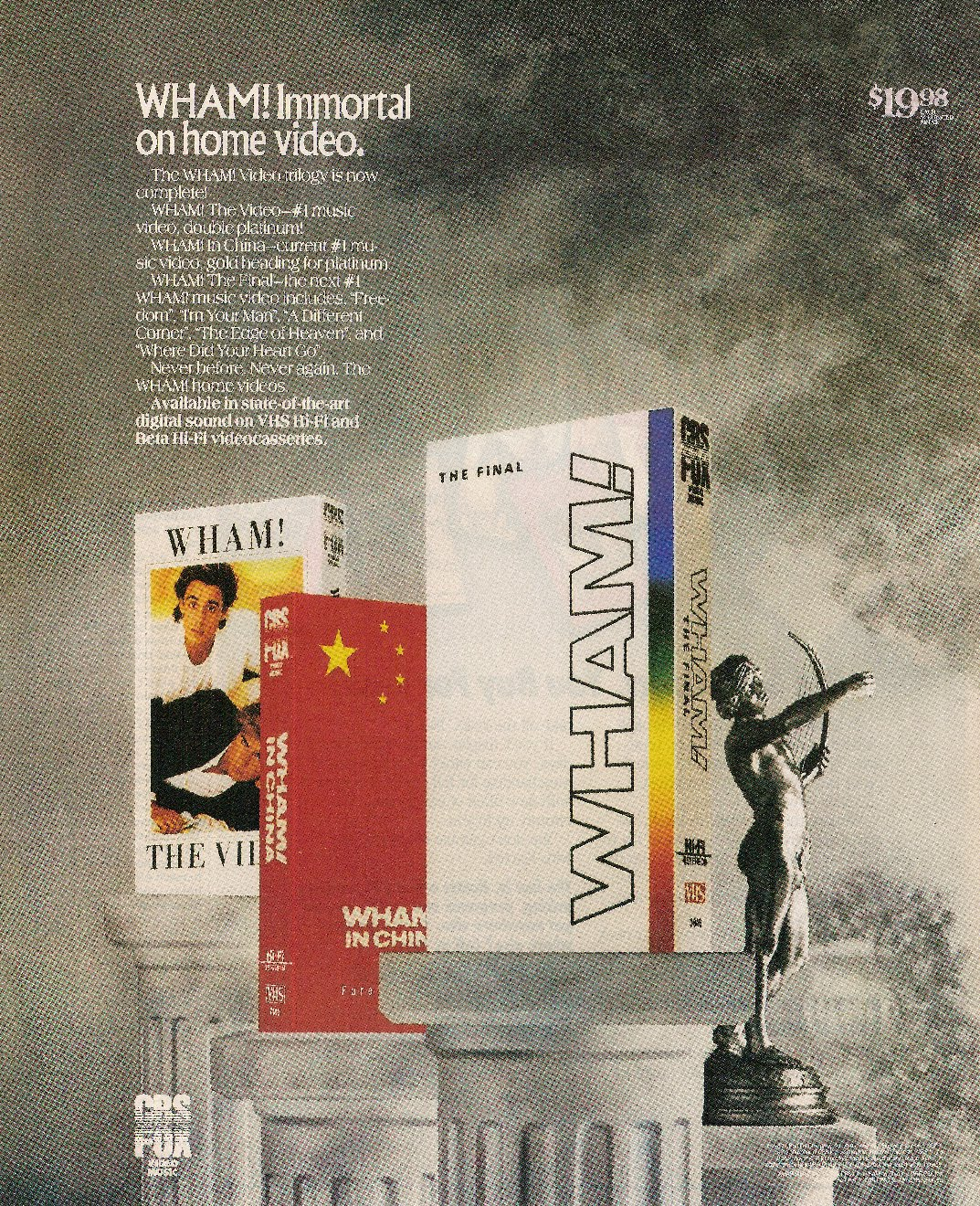 WHAM ! (Enjoy What You Do): Wham! Immortal on home video