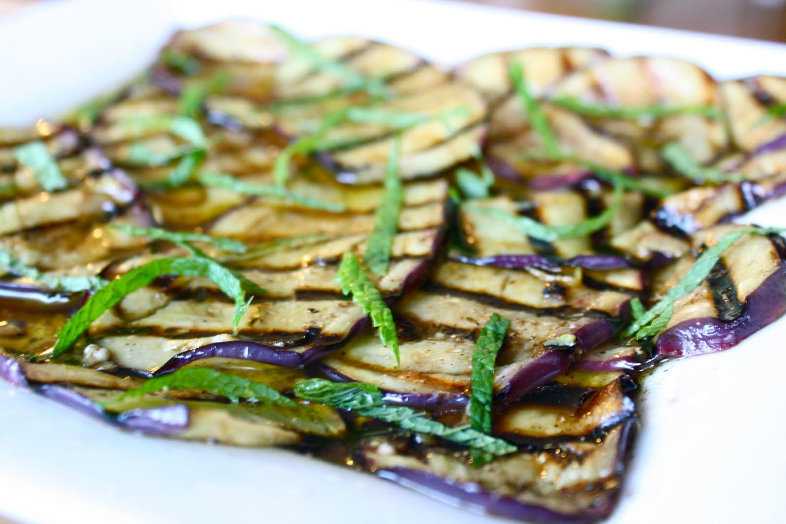 Hey, Lady Grey: Marinated Eggplant with Lemon & Mint