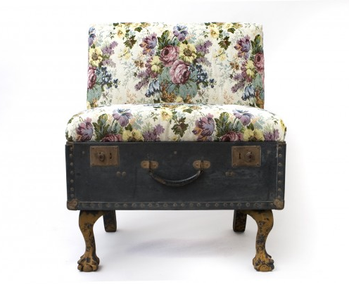 hey lady grey recycled vintage suitcase furniture