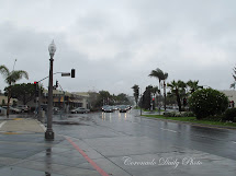 Coronado Daily Orange Avenue In Rain