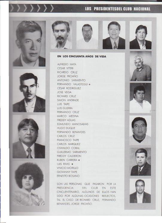PRESIDENTES DEL CLUB DEPORTIVO NACIONAL SAN JUAN