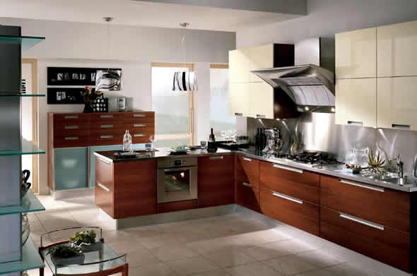 Luxury Home Interior Design: Walnut Kitchen Design Home Interior