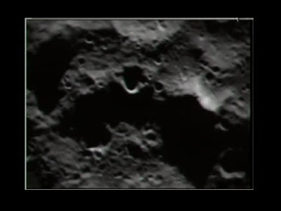 View of moon from LCROSS spacecraft