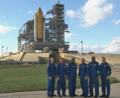 STS-129 crew at Launch Pad 39A