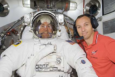 STS-129 Mission Specialists Mike Foreman and Randy Bresnik