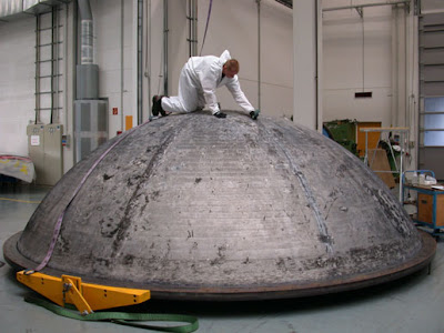 Spherical tank dome combines friction stir welding and spun formation