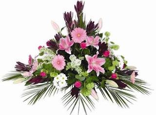 Centros de flor natural (Trabajos funerarios)