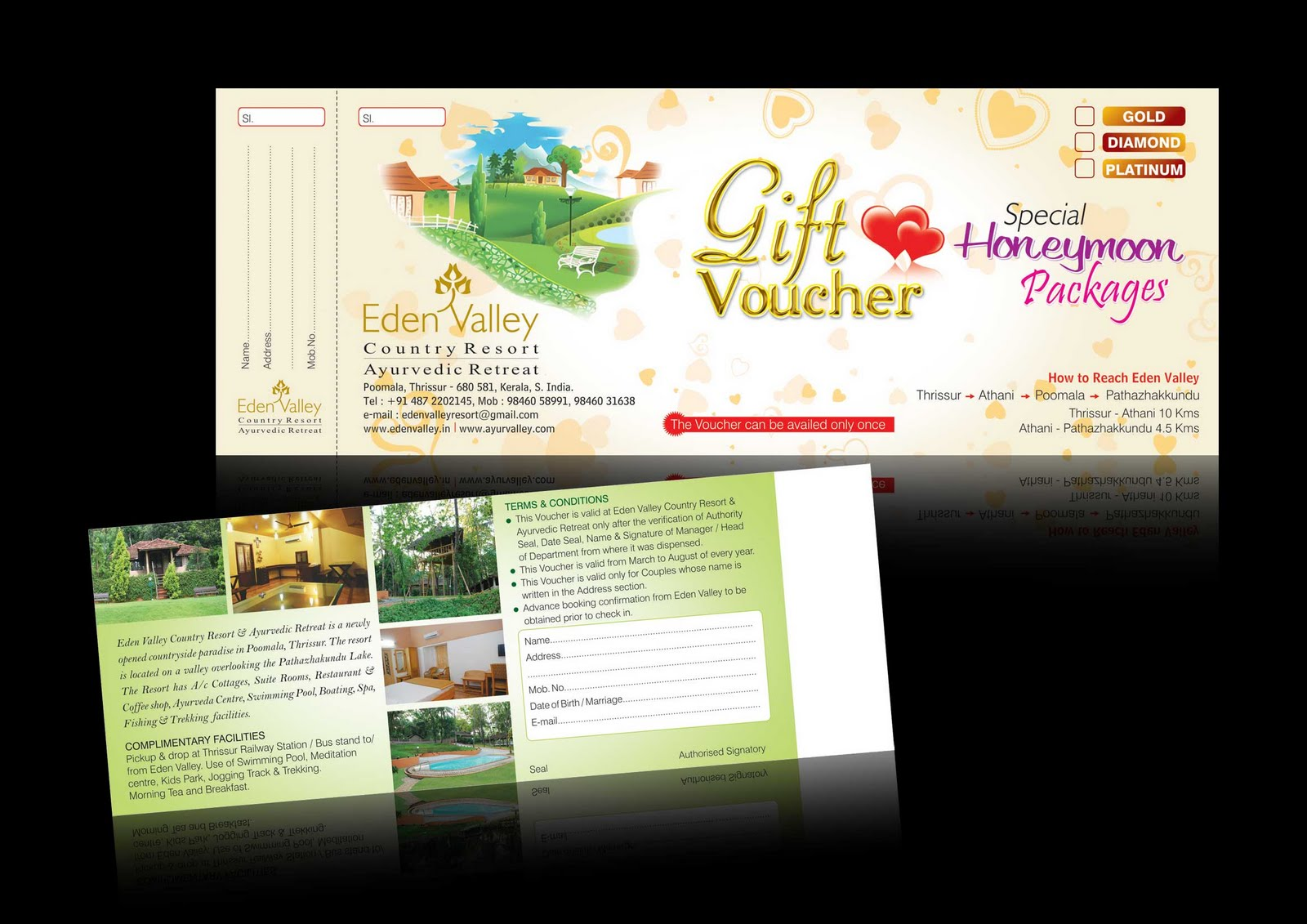 C o ad ventures august 2010 for Hotel voucher design