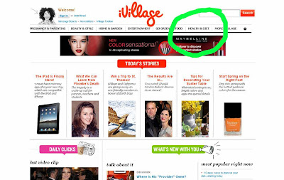 iVillage is an online publication that exists because of its advertising revenue. It may appear to be a woman's website but it is really an advertisers website. There is a big difference in using advertising to manipulate a reader to want to wear the latest style of jeans compared to wanting to take a potent addictive medication that should be carefully prescribed after the patient has been thoroughly diagnosed