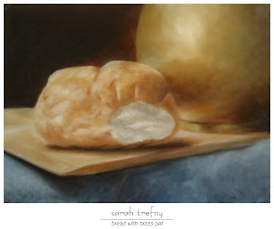 how to clean an oil painting with bread