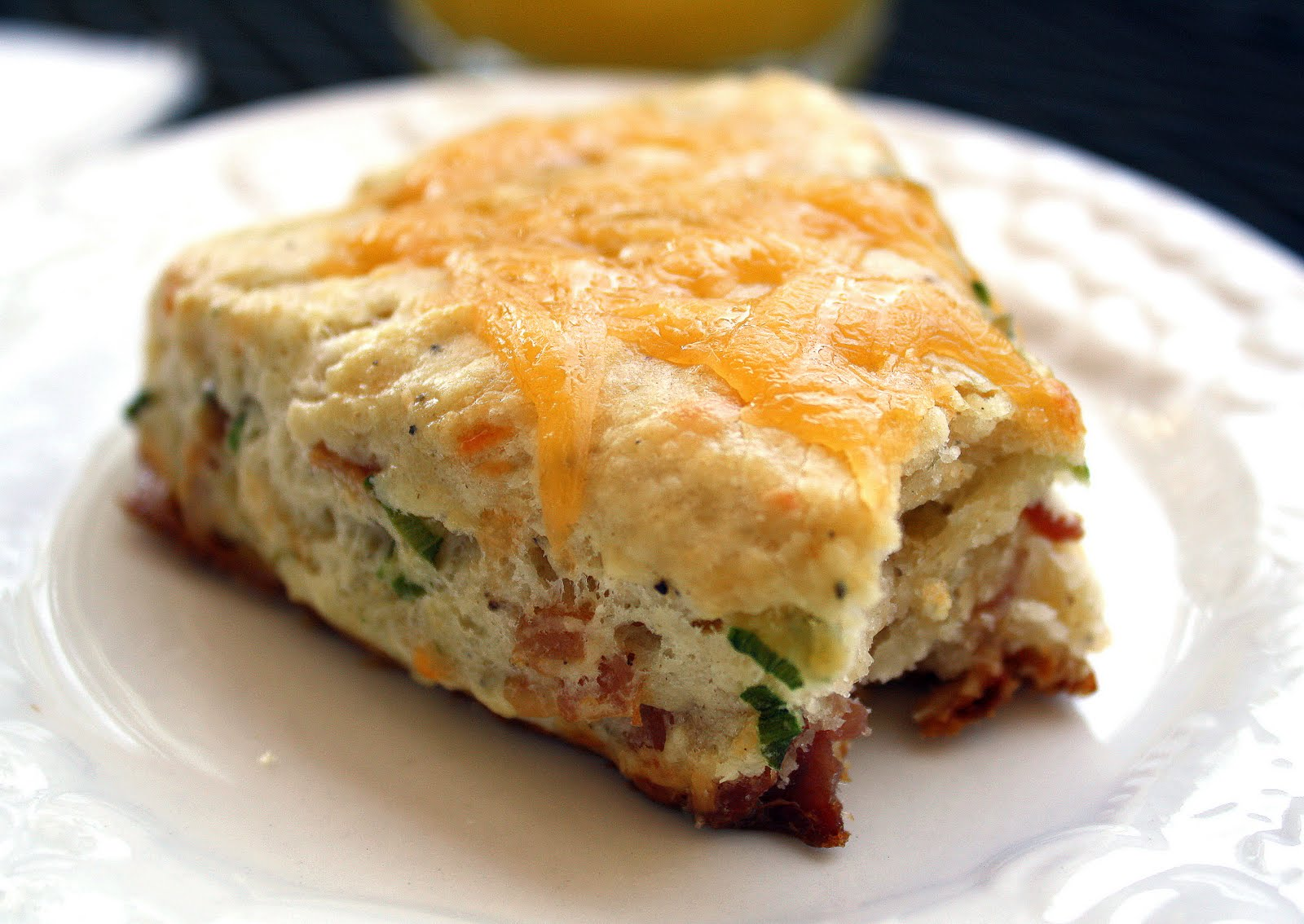 Bacon And Cheddar Scones Recipe — Dishmaps