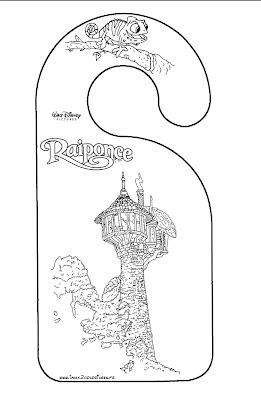 marcador de porta rapunzel