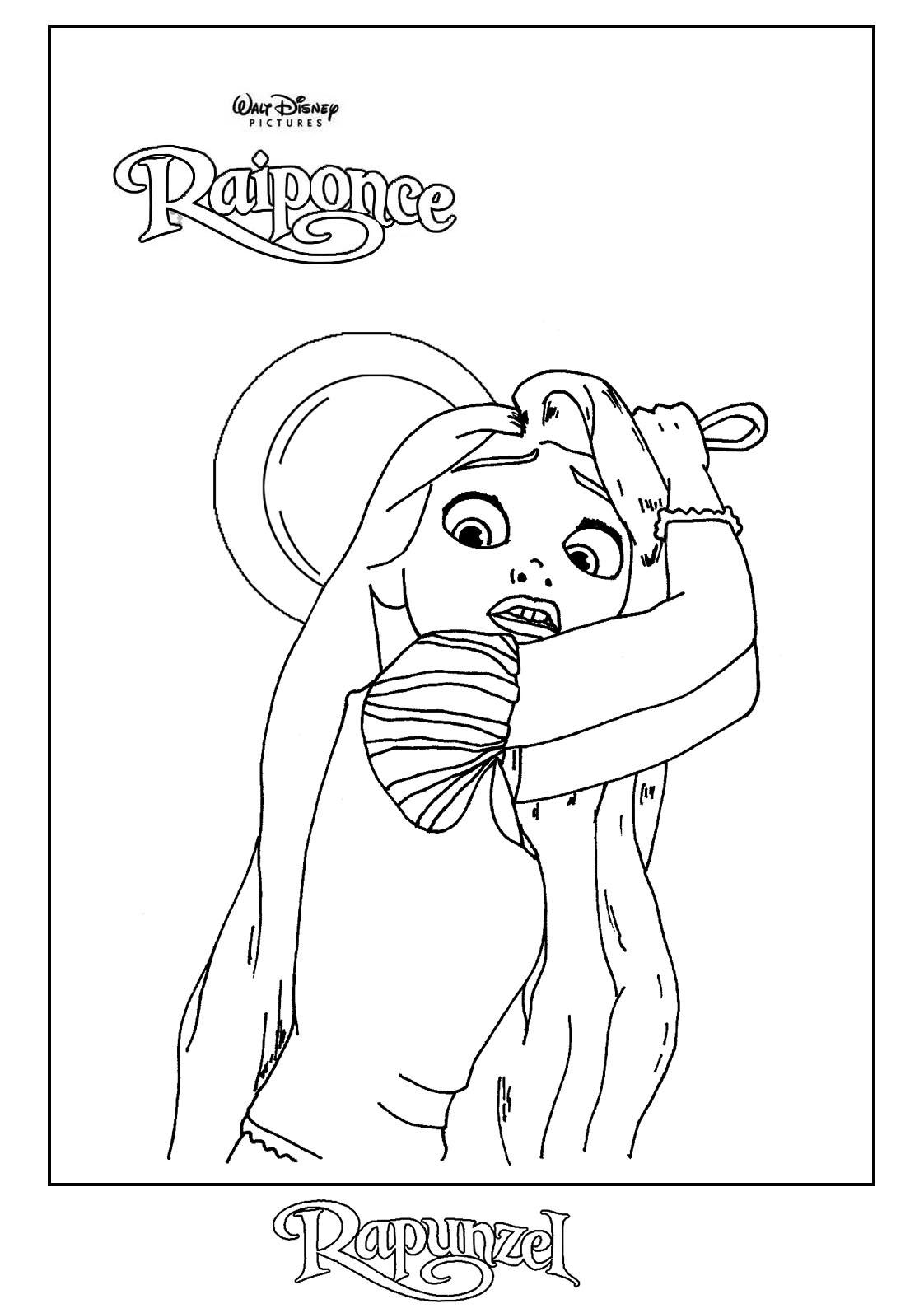 Bebé rapunzel Disney para colorear - Imagui