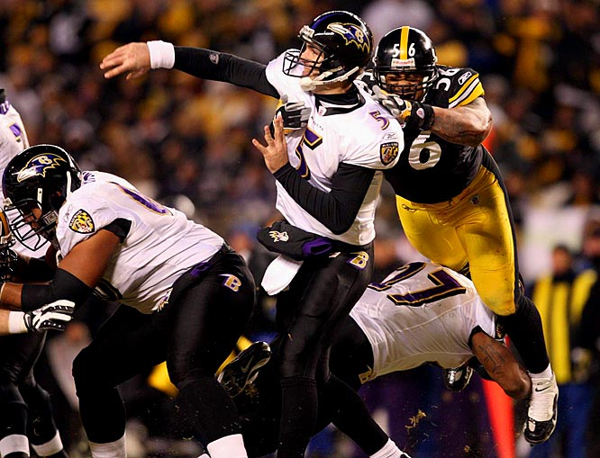 Joe Flacco and LaMarr Woodley