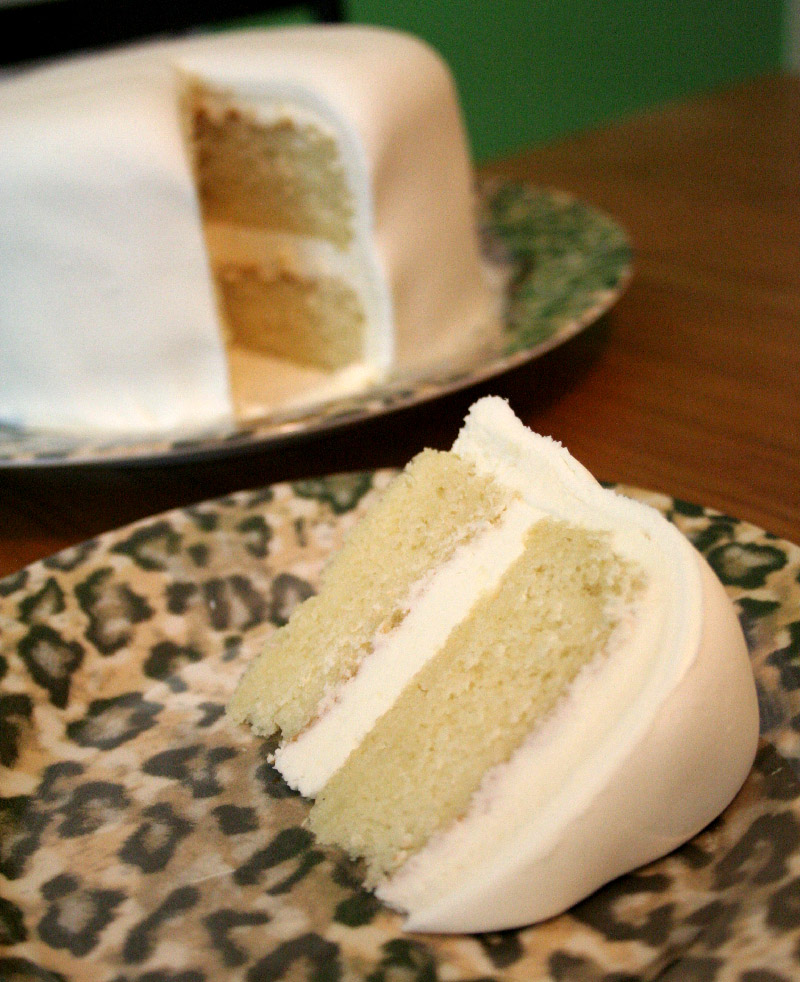 ... and More - Created by Christi: Simple White Fondant Covered White Cake
