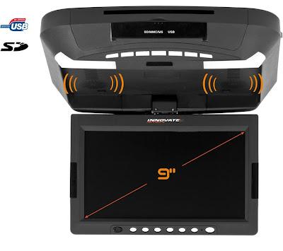 design world innovate ecran plafonnier 9 avec lecteur dvd usb et sd. Black Bedroom Furniture Sets. Home Design Ideas