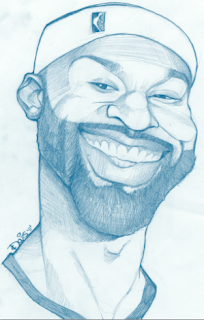 Baron Davis Art Drawing Caricature NBA LA Clippers Blake Griffin