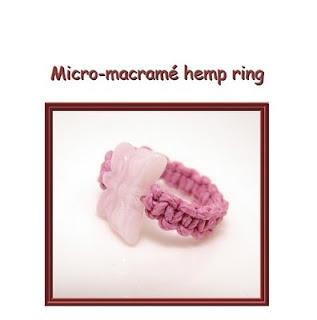 hemp macrame ring
