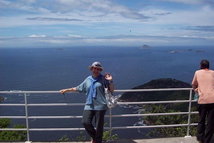Rio de Janeiro: eu no alto do Pão de Açúcar