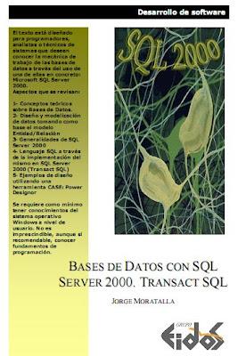 Bases de Datos con SQL Server 2000. Transact SQL por Jorge Moratalla