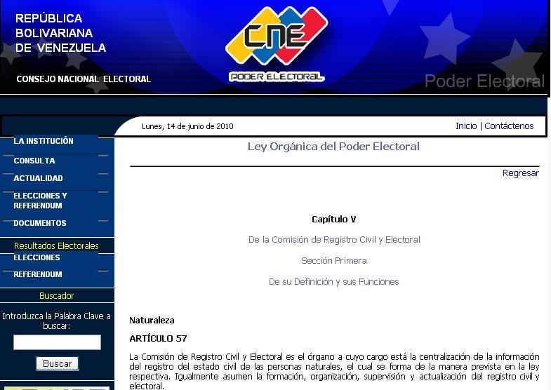 Sistema nacional de registro civil en venezuela for Ministerio de relaciones interiores espana