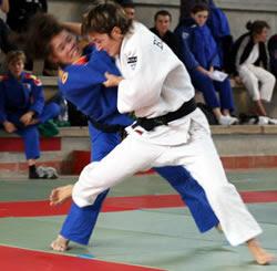Imatge del 18è Trofeu Ciutat de Girona de Judo 2008. Foto HajimeJudo.- Osotogabi