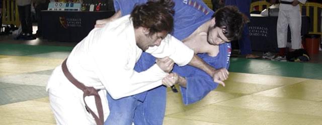 Un dels combats de la categoria masculina