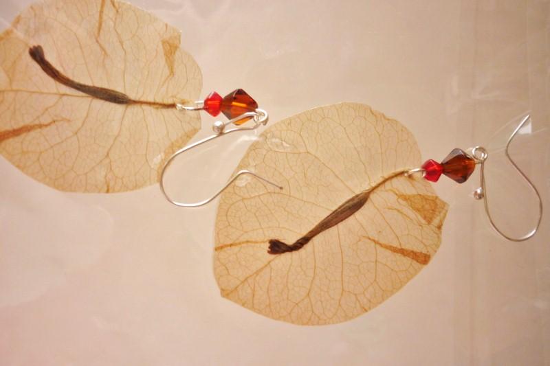 antillanca boucles d 39 oreilles en fleurs naturelles mont es sur attaches en argent 925. Black Bedroom Furniture Sets. Home Design Ideas