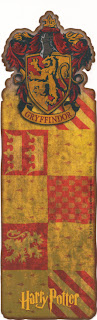 marcapáginas, harry potter bookmark gryffindor banner