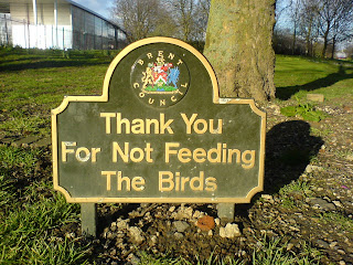 Thank You   For Not Feeding     The Birds