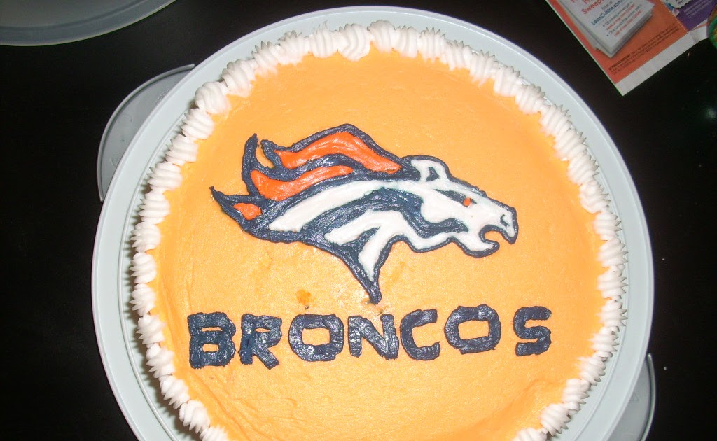 Cake Decorating Classes Near Thornton : MoMoCakes: Denver Broncos Cake