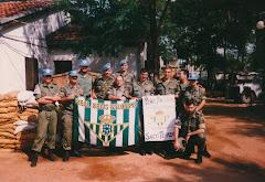 """Peña Bética """"Saco Terrero"""" de Bosnia-Herzegovina 1994 (el cuarto por la izquierda Brigada Lozano)"""