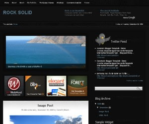 rock solid - blogger template