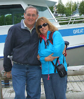 Arthur and Gail after cruise tour of marine park to see the shipwrecks