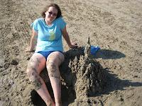 A sandcastle like Aaron used to build