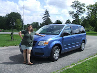 My new very BLUE Dodge Caravan