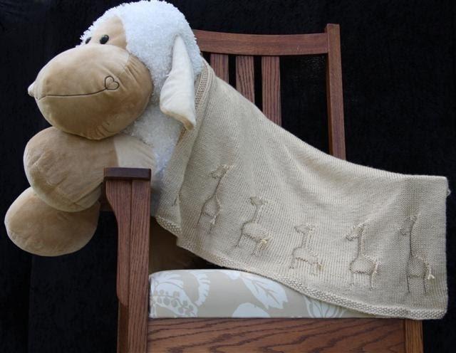 Giraffe Baby Blanket Knitting Pattern : Knitting Giraffe: Giraffe Baby Blanket
