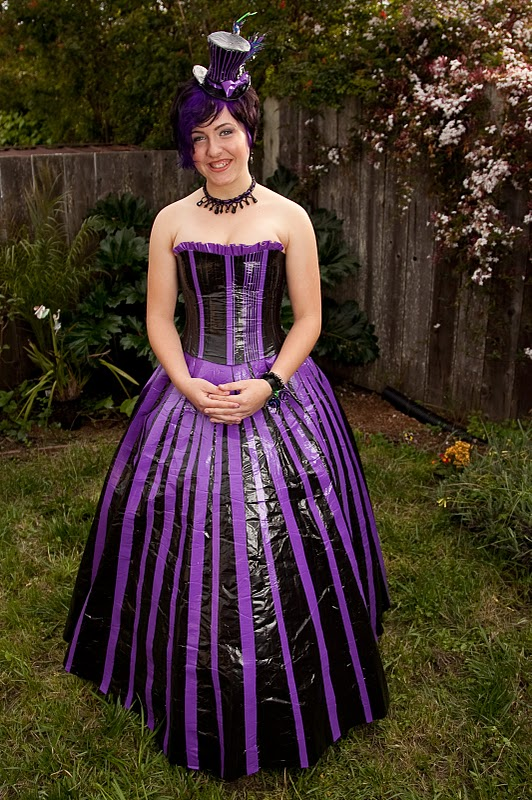 create-o-matic: #337 The Duct Tape Prom Dress