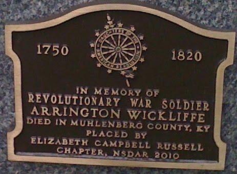 Arrington's DAR marker