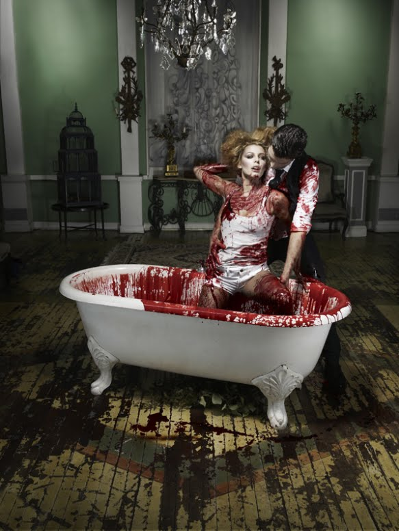 lindsay lohan vampire photoshoot. dis a vampire photo shoot!