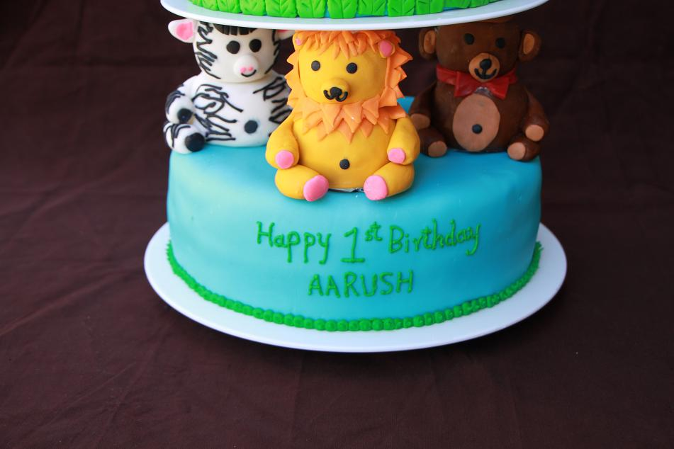 Ganesh Bday Cake Images : DHANYA S DELIGHTS: Animal Themed Cake