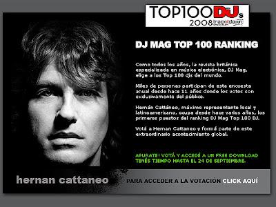 Hernán Cattáneo en el ranking de DJ MAG