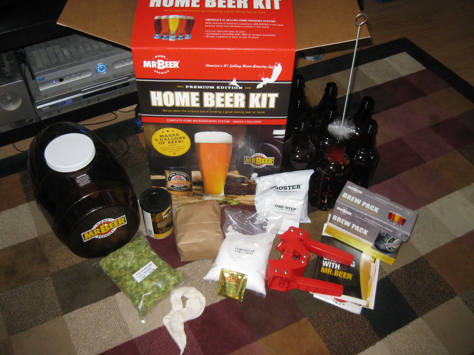 small batch brew how to set up keg